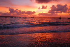 Bali sunset Stock Photos