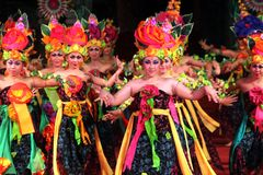 Bali-Tanz sengkuni Stockfotografie