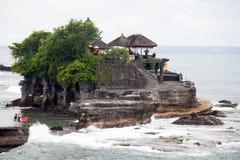 Bali tempel i den Tanah lotten Fotografering för Bildbyråer