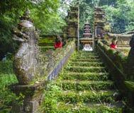 Bali tempel på Ubud, Indonesien Arkivbild