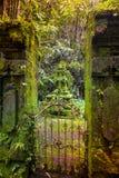 Bali tempel på Ubud, Indonesien Arkivfoton