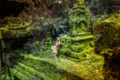 Bali tempel på Ubud, Indonesien Fotografering för Bildbyråer