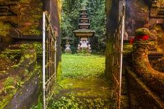 Bali tempel på Ubud, Indonesien Arkivfoto