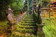 Bali tempel på Ubud, Indonesien Royaltyfria Bilder