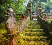 Bali tempel på Ubud, Indonesien Royaltyfria Foton