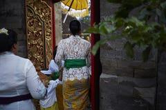 Bali tempelceremoni Royaltyfri Fotografi