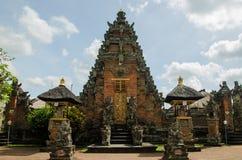 Bali tempelingång Arkivfoto