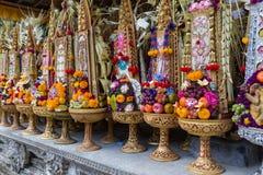 Bali tempelOfferings Royaltyfri Fotografi
