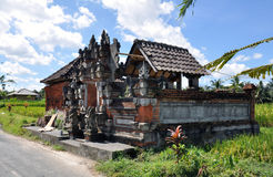 Bali temple. One of temples which are beside roads or close to rice plants on bali Stock Photos