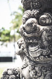 Bali temple art statue detail indonesia Stock Photography