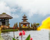 Bali Temple. Beautiful Bali water temple at Bratan lake royalty free stock photos