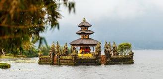 Bali Temple. Beautiful Bali water temple at Bratan lake royalty free stock image