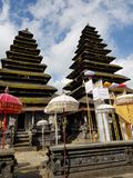 Bali Temple. Double roof in Bali Temple royalty free stock photo