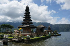 Bali Temple. Famous Pura Ulun Danu Bratan temple in Bali, Indonesia by water Stock Images