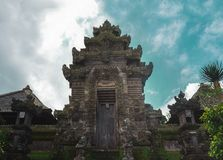 Bali temple gate. Entrance of hindu temple. In panglipuran traditional balinese village royalty free stock photos