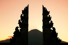 Bali temple portal Royalty Free Stock Photography