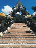 Bali temple at sunny day, Indonesia island.  royalty free stock photography