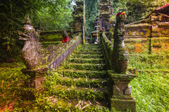 Bali temple at Ubud, Indonesia Royalty Free Stock Images