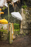 Bali Temple Umbrellas Royalty Free Stock Images