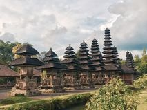 Bali temple with unique roofs royalty free stock photography