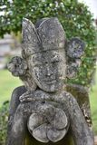 Statue Balinese or Siamese look at camera. Stock Photo