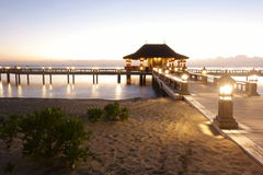 Bali themed beachport royaltyfri bild