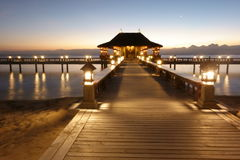 Bali themed beachport royaltyfri fotografi