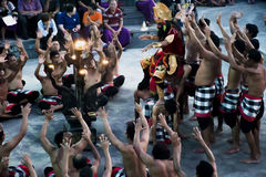 Bali tradition Dance Fire Kecak monkey 07.10.2015 Stock Images