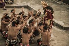 Bali-Tradition Tanz-Feuer Kecak-Affe 07 10 2015 Stockbilder