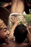 Bali Traditional Pandanus War. Bali Pandanus War is traditional culture from karangasem. Bali Local people used to call Mekaré-kare stock images