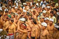 Bali Traditional Pandanus War. Bali Pandanus War is traditional culture from karangasem. Bali Local people used to call Mekaré-kare stock image