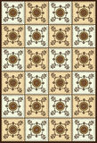 Bali traditional pattern. Brown colour traditional pattern background Stock Photos