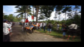 Bali traditionellt kolopp lager videofilmer