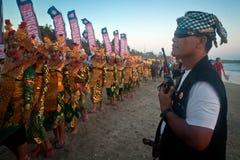 Bali Tradycyjna policja, Pecalang. Obraz Stock