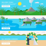 Bali Travel Banners Set Royalty Free Stock Photography