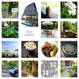 Bali turism - semesterortcollage Arkivfoto