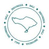 Bali vector map. Royalty Free Stock Photos