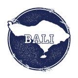 Bali-Vektorkarte Lizenzfreies Stockbild