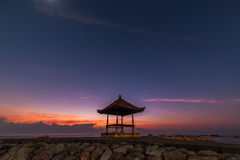 Bali Veranda and blue just before Sunrise Royalty Free Stock Photography