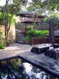 Bali. Villa in wildernis Royalty-vrije Stock Fotografie