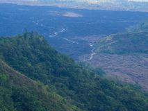 Bali volcano, Agung mountain from Kintamani in Bali Royalty Free Stock Image