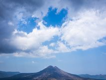 Bali volcano, Agung mountain from Kintamani in Bali. Indonesia Stock Images