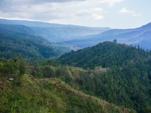 Bali volcano, Agung mountain from Kintamani in Bali Royalty Free Stock Photo