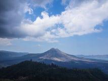 Bali volcano, Agung mountain from Kintamani in Bali. Indonesia Stock Photos