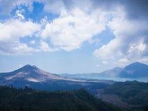 Bali volcano, Agung mountain from Kintamani in Bali Stock Image