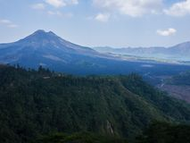 Bali volcano, Agung mountain from Kintamani in Bali. Indonesia Royalty Free Stock Images