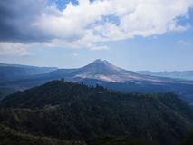 Bali volcano, Agung mountain from Kintamani in Bali. Indonesia Royalty Free Stock Photos