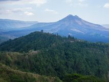Bali volcano, Agung mountain from Kintamani in Bali. Indonesia Stock Image