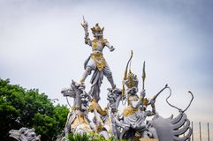 Bali Warrior Statue Monument Indonesia. Very much one of the main tourist attractions and points of interest in the area stock images