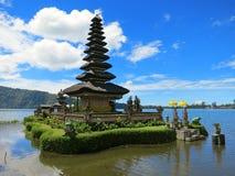 Bali water temple on lake, Indonesia Stock Image